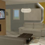 salon moderne 3D réaliste