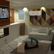cheminée central 3D réaliste
