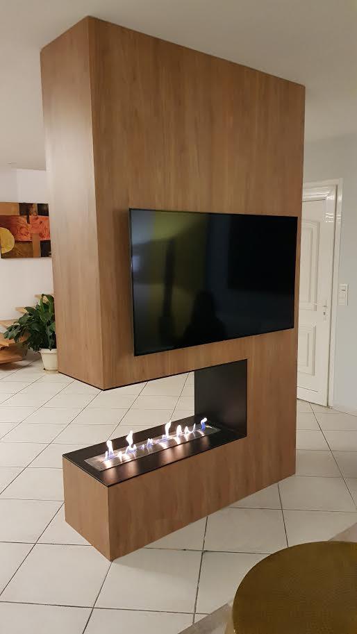 cloison de s paration avec chemin e thanol projet sur aix en provence. Black Bedroom Furniture Sets. Home Design Ideas