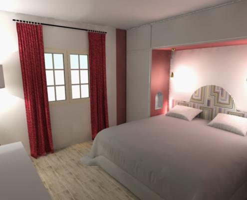 chambre hôtel 3D design