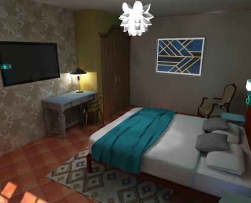 chambre hôtel designer
