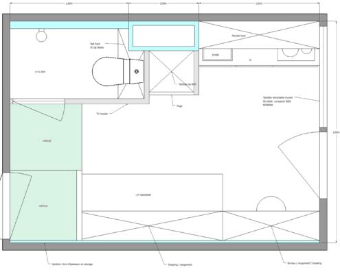 plan studio 12 m2