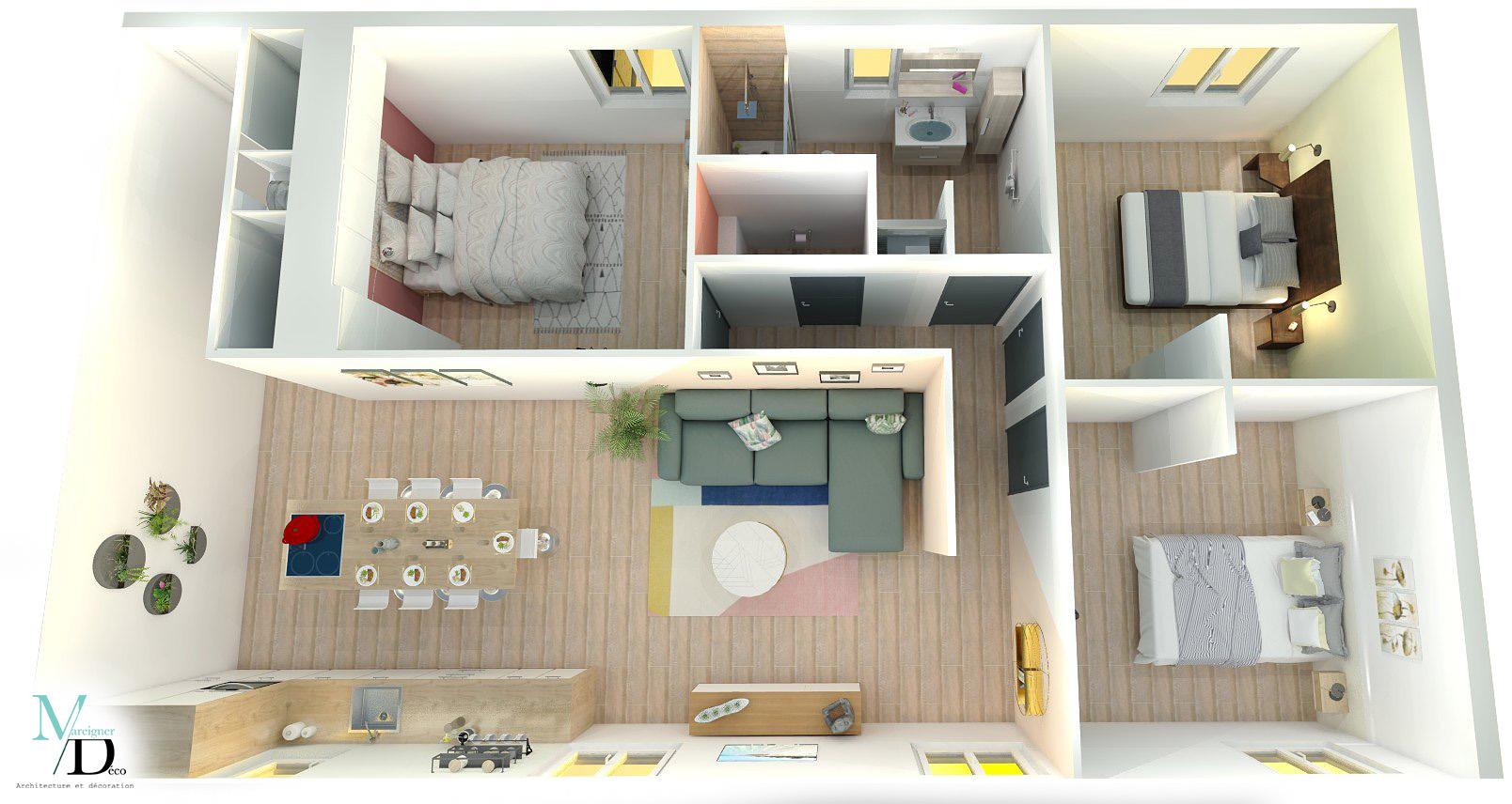 aménagement appartement T4