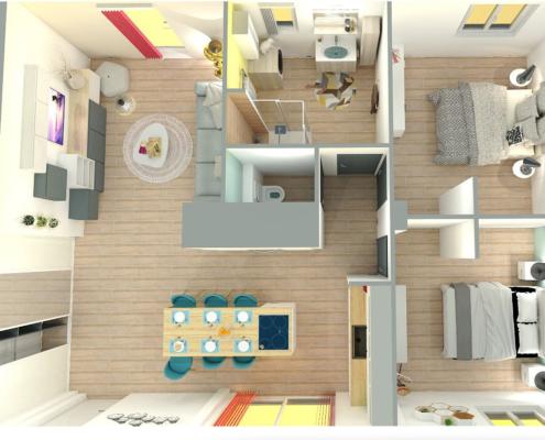 plan 3D réaliste