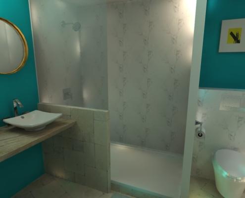 relais château salle de bain