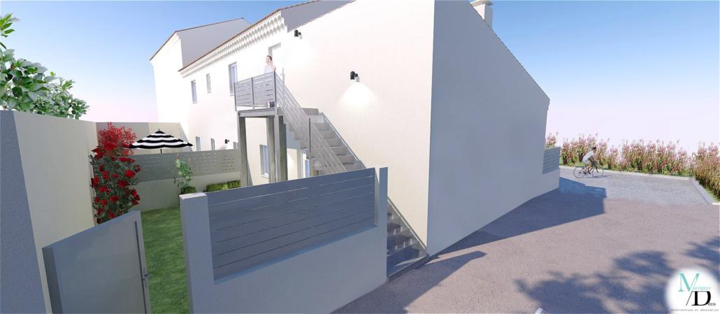 cour extérieure 3D