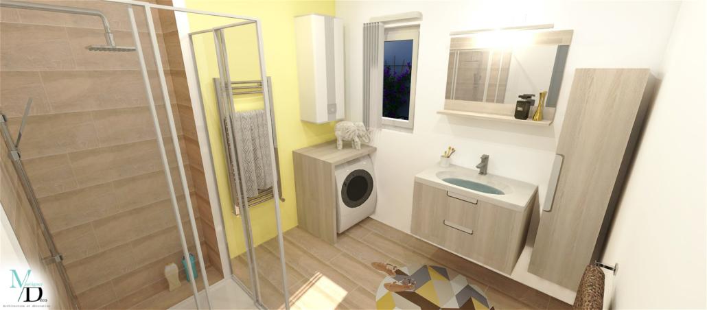 aménagement salle de bain design